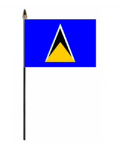 St. Lucia Country Hand Flag - Small.